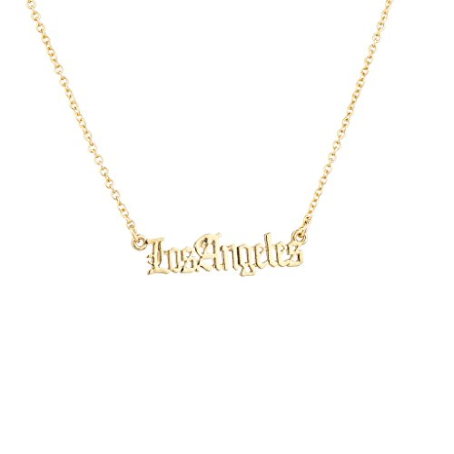 Los Angeles Necklace Amazoncom
