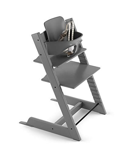 Stokke 2019 Tripp Trapp High Chair, Includes Baby Set, Storm Grey
