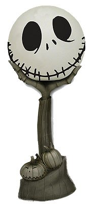 Nightmare Before Christmas Jack Head in Hand Figural Lamp -