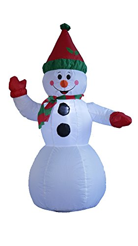 4 Foot Christmas Inflatable Snowman Yard Garden Decoration by BZB Goods (Image #1)
