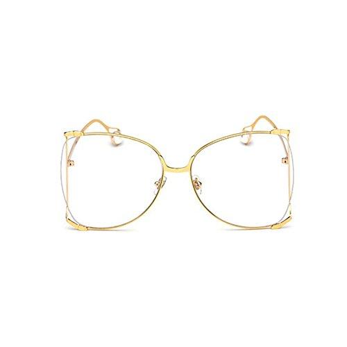 Gafas De Sol Marco De Grande Mujer Pink Perlas Gafas White para Gafas Ghtweight Moda GAOJUAN qzw8RR