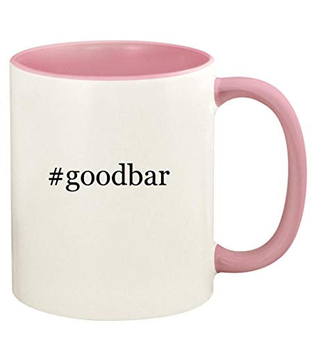 #goodbar - 11oz Hashtag Ceramic Colored Handle and Inside Coffee Mug Cup, Pink (Movie Looking Goodbar Dvd Mr For)
