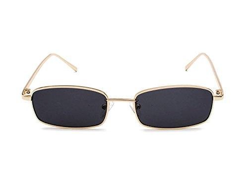 Noir soleil Lunettes Rectangulaire Ultra Vintage Mode de B4 Bmeigo Rétro Métal Unisex Femme lunettes léger UV400 6xda1Yn