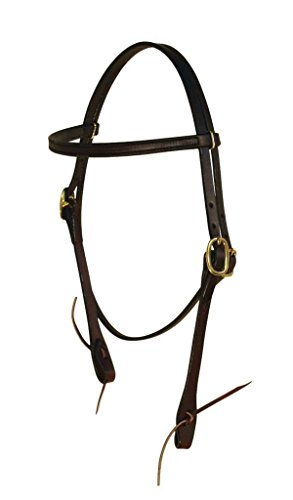 Berlin Custom Leather Headstall English Bridle Dark Oil Mahogany D1100