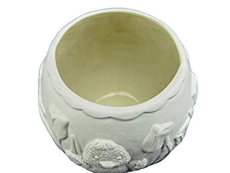Unglazed Tulips and Bunny Rabbit Paint Your Own Handmade Ceramic Bisque Flower Pot Planter with Ducks