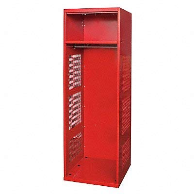 HALLOWELL KSNN4821CRR Gear Locker 24x18x72 Red With Shelf