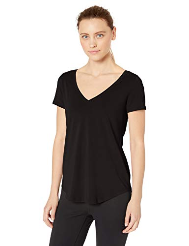 Amazon Brand – Core 10 Women's (XS-3X) Soft Pima Cotton Stretch V-Neck Yoga Short Sleeve T-Shirt