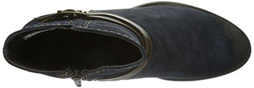 Tamaris 25010 Damen Biker Boots Mehrfarbig (Navy/Espresso 832)