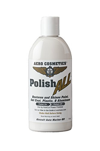 h ALL Aircraft Grade Paint, Aluminum & Plastic Window Polish for your Car Boat RV Motorcycle 8oz ... ()
