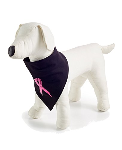 Breast Cancer Awareness Dog - Ideology Dog Bandana Classic Black LXL