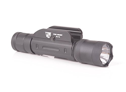 - Ozark Armament 600 Lumen Rifle Light with Remote Pressure Switch - Constant and Strobe Modes - Picatinny Rail Mount