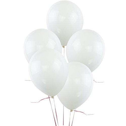 KUMEED White Latex Balloons Globos Party Birthday Wedding Balloons Pack of 100