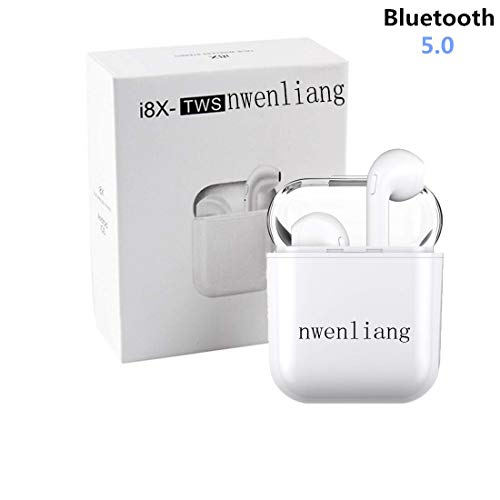 Bluetooth Headset Wireless Headphones In-Ear Headphones Stereo Headphones with Microphone and Charging Case, Compatible with Apple Airpods Android Iphone