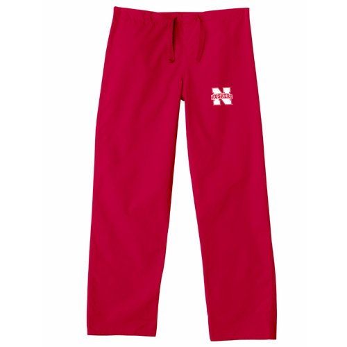 Nebraska Cornhuskers NCAA Classic Scrub Pant (Red) (Small) by Gelscrubs