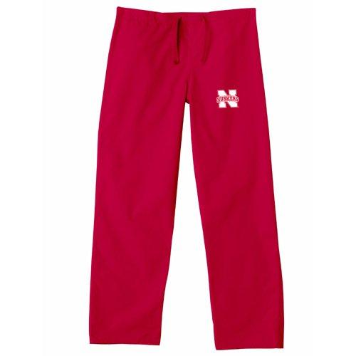 - Nebraska Cornhuskers NCAA Classic Scrub Pant (Red) (Small)