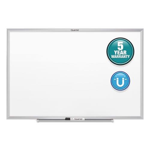 Quartet Dry Erase Board, Whiteboard / White Board, Magnetic, 6' x 4', Silver Aluminum Frame (SM537) by Quartet