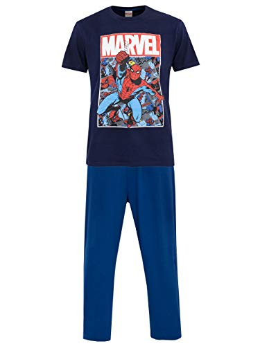 Marvel Mens' Spiderman Pajamas Size Small Blue
