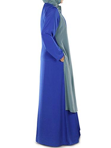 Dual Maxikleid elegante Abaya Frauen MyBatua Layer 6ZUwSxFnFq