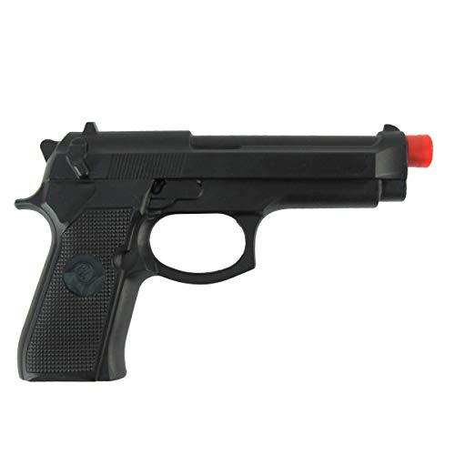 007 Costumes Accessories - Fake Black Rubber Handgun Realistic Pistol