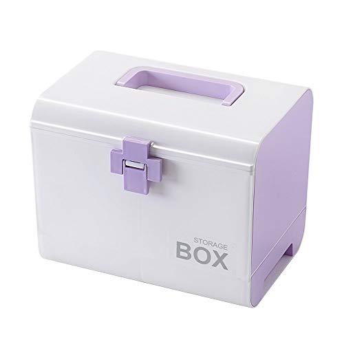 BIQIB Family Emergency Medication Organizer Medicine Box (Purple)