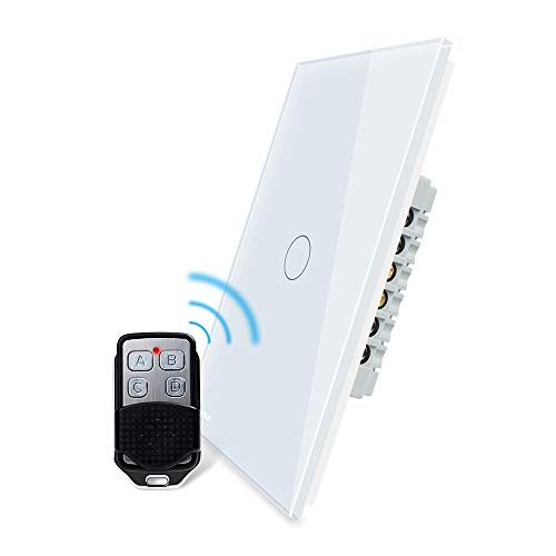 LIVOLO Wireless Smart Lighting Control Dimmer & Remote Switch With LED Indicator,1 Gang 1 Way,AC 110-220V,US Standard,White,-C501DR-11