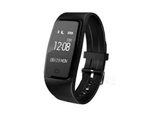 Step Tracker, Pedometer Watch, Fitness Tracker, Smart Watch (Black) With Heart Rate Monitor, Distance Monitor, Sleep Monitor For Cycling And Running by La Flores