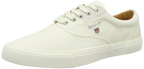 Gant 14638606, Zapatos para Hombre Blanco (cream)