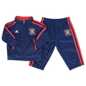 Infant Chicago Fire Soccer Club Referee Track Suit Adidas Jacket and Pants Set (2T)