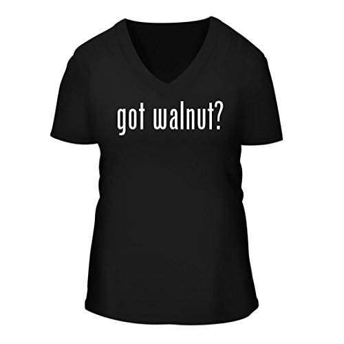 got walnut? - A Nice Women's Short Sleeve V-Neck T-Shirt Shirt, Black, Large (Black A/v Credenza)