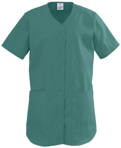 Shirttail Scrub - Medline 8834JEGS ComfortEase Shirttail Style Scrub Tops, Small, Evergreen