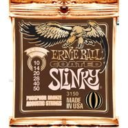 Ernie Ball Coated Slinky Phosphor Bronze Acoustic Strings Extra Light