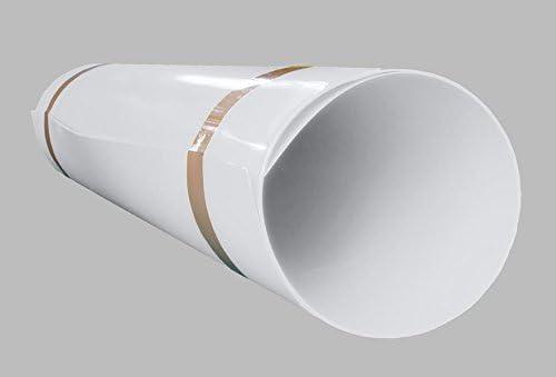 Placa de PVC duro de A + H Kunststoffe, de 2000x 1000mm, unilateral con protector de pantallade1mm/2mm, Blanco