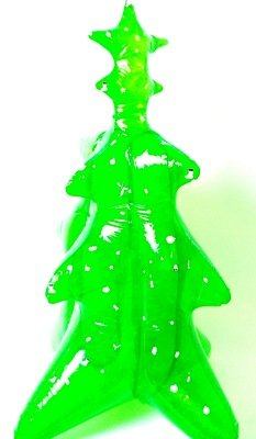 INFLATABLE CHRISTMAS TREE, 140CM TALL COMES WITH GLOW IN THE DARK  DECORATIONS