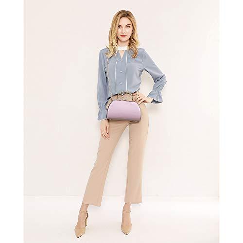 LJOSEIND Small Patent Leather Handbags Mini Shoulder Bags Crossbody Purses with Rhinestone for Women
