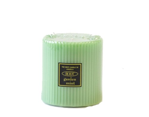 Root Candles Scented Grecian Pillar Candle, 3 by 3-Inch Tall, Garden -