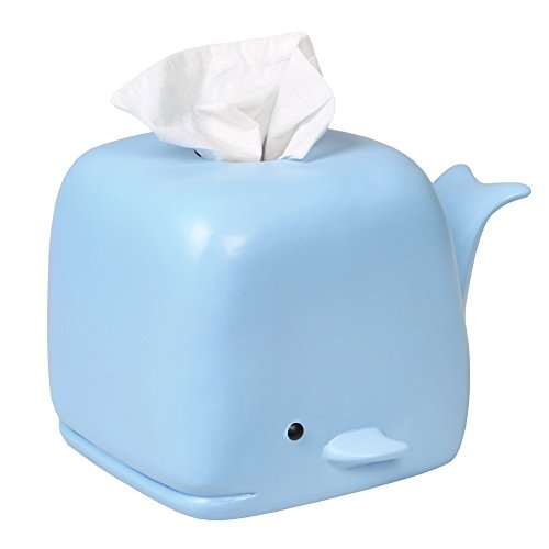 WHAT ON EARTH Blue Whale Tissue Box Holder - Square Tissue Box Cover