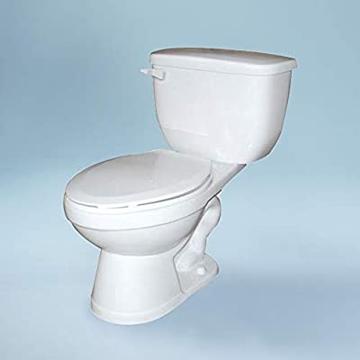 Transolid TBT-1570-08 Madison Vitreous China 1.0 GPF 2-Piece Elongated ADA Toilet 28-in L x 18-in W x 33.5-in H, Biscuit