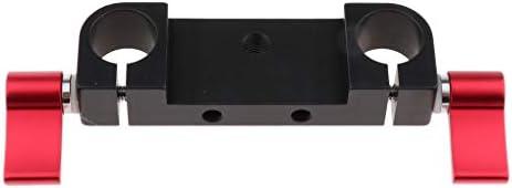 DSLRリグ ショルダーサポート用 標準15mmロッドクランプ デュアル レールブロック