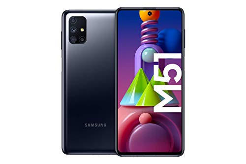 Samsung Galaxy M51 Smartphone de 6.7″ FHD+ | Móvil Libre | Super Batería de 7000 mAh y Carga rápida | 6GB de RAM y 128GB de ROM – Color Negro [Versión española] [Exclusivo Amazon]