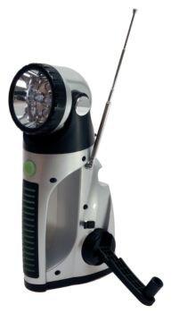 eGear Dynamo 5 LED Light with Radio (Silver)
