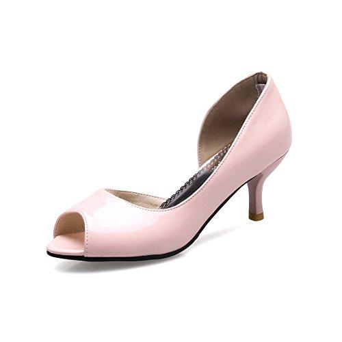 BalaMasa Toe Pink Peep Uppers Closure No Low Ladies Sandals Cut Urethane rAg6wrq