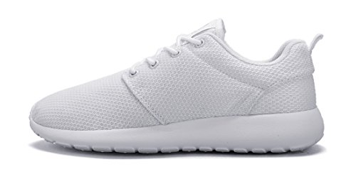Correr de para Blanco Mujeres de Trail Ligero Cómodas Calzado Aire Tennis CAMEL CROWN Caminar para Zapatillas al Libre Malla Transpirables Deportivo Zapatos f0xBn48wq