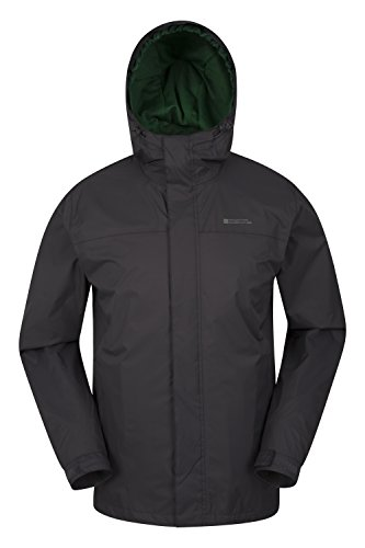 Mountain Warehouse Torrent Mens Jacket - Waterproof Rain Coat Dark Grey X-Large