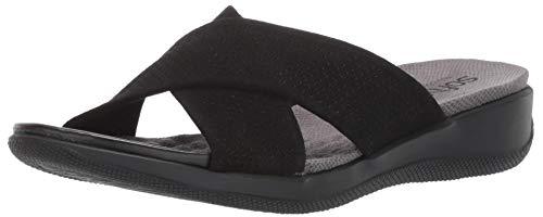 SoftWalk Women's Tillman Sandal Black Suede 11.0 M US - Nappa Suede Black Footwear