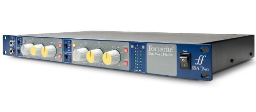 Brand New Focusrite | High-Performance 2-Channel Transformer-Based Microphone/Instrument Preamplifier, ISA TWO with Lundahl LL1538 Mic Input Transformer, Front-Panel Instrument & Rear Panel Line Inputs, and Variable Cut-Off High-Pass Filter