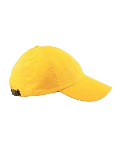 nbsp;amarillo de perfil béisbol pigment bajo Cap Adams Gorra talla de dyed 6 nbsp;paneles única AD969 lavar Wn8AOaaS0q