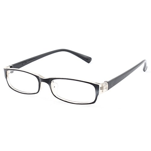 uxcell® Kids Plastic Full Rim Rectangle Lens Plain Eyeglasses Plano Glasses Black - Kids Fake For Reading Glasses