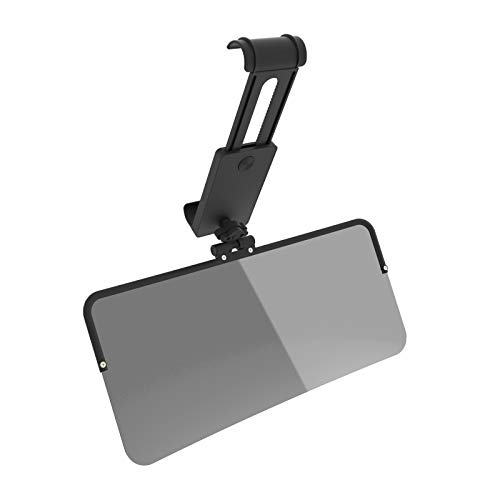 VZCY Polycarbonate Polarized Visor Extender 1 Panel for Day and Night Driving with All-Round Rotation Cardan Shaft, UV400 Car Visor Protects from Sun and Headlights, Universal Fits Cars, SUVs and RVs