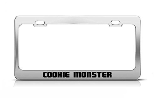 Acove Cookie Monster Supportive Funny Custom Metal Tag License Plate Frame