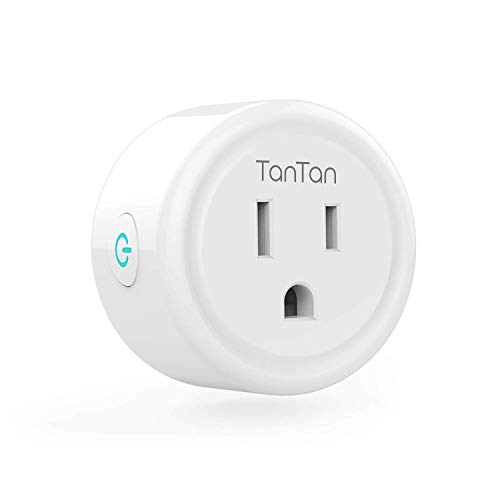 Smart Wifi Plug Compatible with Alexa Google Home IFTTT, Gosund Smart Outlet Mini Socket with Overload Protection, Reliable Wifi Connection No Hub Required, 2 pack